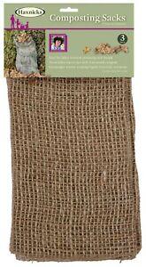 Haxnicks Jute Composting Sacks  - 3 pack