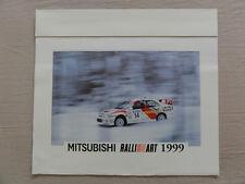 MITSUBISHI PAJERO RALLIART MOTORSPORT KALENDER CALENDAR WANDKALENDER 1999 POSTER