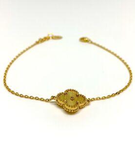21ct Solid Gold Bracelet Floral Motif Hallmarked