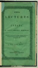 Rollo CAMPBELL Two Lectures On Canada Delivered ... Greenock SCOTLAND 1857