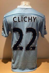 Gael Clichy MATCH WORN Manchester City 2011/12 Champions Shirt AFTAL/UACC RD