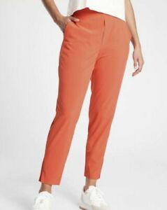 ATHLETA Brooklyn Ankle Lightweight Travel Pant Orange OGHZ Women Size 0P NWT