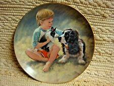 Boy w/ Springer Spanial & Bunny #'d Hamilton Plate 1985 - Abigail Wiilliams