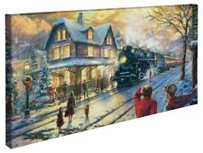 Thomas Kinkade All Aboard for Christmas 16 x 31 Gallery Wrapped Canvas