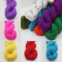 50g Acrylic Chunky Yarn 4 Ply Hand Knitting Crochet Weaving with Golden Thread