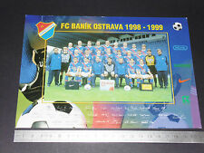 FC BANIK OSTRAVA REPUBLIQUE TCHEQUE CESKO 1998-1999 FOOTBALL CPA DEDICACES