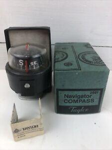 Vintage Taylor Navigator Compass 2981 with box