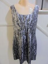 BASQUE CITY SIZE 16 Black White Lined Satiny DRESS Cocktail Special Occasion