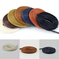 Flat Waxed Shoelaces Oxford Dress Canvas Sneaker Shoe Laces Unisex Strings