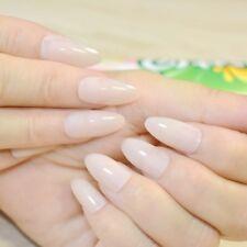 New False fake Nails Medium french airbrushed full nail art gel acrylic glue uk