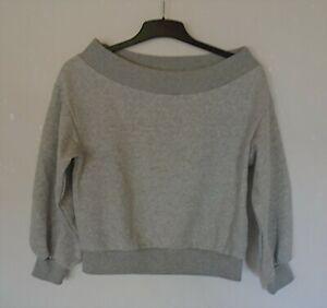 Wie NEU Sweatshirt Pulli ganz hell grau H&M XS S 32 34 36 164 172