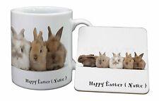 Personalised Rabbits Mug+Coaster Christmas/Birthday Gift Idea, AR-11PEAMC