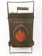 Vintage Hibachi Fold Open Portable Cast Iron Charcoal Grill See Description