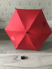 Bugaboo Bee Parasol Sun Umbrella For Pushchair In Red With Clips No 1 & 2