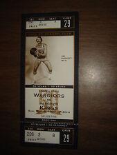 Ticket Stub Nba Jim Barnett Warriors /Kings 3/9/97 50Th Ann. Unused Full Ticket