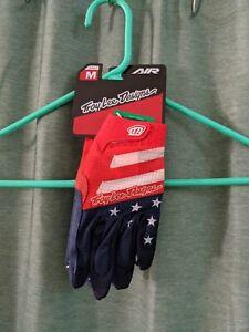 Troy Lee Designs Air Star & Stripes Gloves Red/White/Blue Size Medium