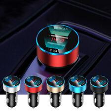 Dual Usb Qc 3.0 Car Cigarette Charger Lighter Digital Led Voltmeter Accessories (Fits: Charger)