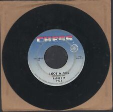 "RARE THE RADIANTS 45 7"" NO BIG THING I GOT A GIRL CHESS NORTHERN Soul R&B"
