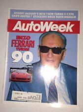 Autoweek Magazine Enzo Ferrari Turns 90 March 14, 1988 011717RH