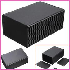 Aluminum Black Enclosure Instrument Case Electronic Project Box Structure Split
