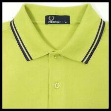 FRED PERRY MENS Crisp Fresh Twin Tipped  Lime Polo SHIRT  UK SIZE M