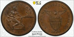 1910 S US Philippines One Centavo PCGS MS63 BN Registry Coin