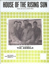 The Animals - House Of The Rising Sun - Sheet Music - Written By Alan Price
