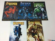 Marvel Evolution of an Icon Comic Book Spider-Man Hulk Iron Man Wolverine Beast