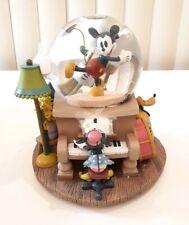 Disney MINNIE'S YOO HOO Musical Snow globe Water Minnie Mickey Goofy RARE(21)