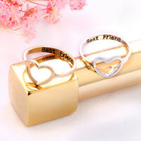Women Love Heart Best Friend Ring Promise Jewelry Friendship Rings Bands^