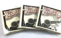 John Pearse Guitar Strings - 3 Pack - Acoustic New Medium #310NM Bronze Wound