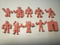 1985 Mattel Kinnikuman M.U.S.C.L.E. Muscle Men 10 figure Pack Trash Can Vintage