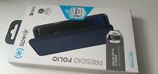 Genuine Speck Presidio Folio Flip Wallet Shockproof  Case Cover Samsung S9+ Blue