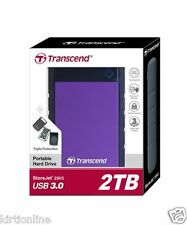 TRANSCEND 2TB STOREJET 25H3P  USB 3.0 EXTERNAL Hard Disk Drive - 2TB *