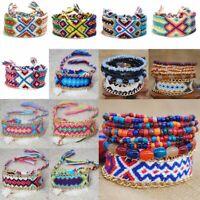 Fashion Handmade Boho Woven Friendship Bracelet Braided Wristband Women Men Gift
