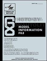 1968 AMC Options and Features Book AMX Javelin Rambler Rebel American Ambassador