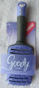 Goody Go Curl Paddle Vented Gentle Detangling Hair Brush Wide Spaced Bristles