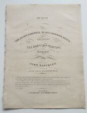 THE ARAB'S FAREWELL TO HIS FAVOURITE STEED ANTIQUE VICTORIAN HORSES SHEET MUSIC*