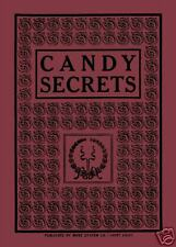 CANDY SECRETS 1913 Vintage Antique Cookbook Recipes Chocolate REPRINT