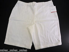Womens  Shorts Size 16 White Stretch Croft Barrow cotton spandex