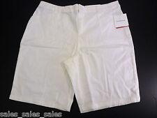 Womens  Shorts Size 16 White Stretch Croft Barrow cotton spandex