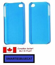 Clear Blue Hard Plastic Back Protector Case for iPhone 4G 4S