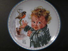 Knowles 1988 Precious Little Ones LITTLE RED ROBINS Toddler & Bir  Ltd Ed Plate