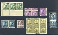 YOUGOSLAVIA 1924  7 x VARIETY -MISPERFORATION  */**  MOST VF   @2