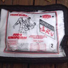 Tiger Claw Judo Uniform Hayashi White Size 1 100% Cotton Jujitsu Kung Fu NWT NEW