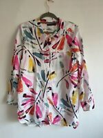 Marks and Spencer Floral Blouse Size 14 (J1)