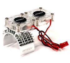 T8534SILVER Motor Heatsink + Twin Cooling Fan for Traxxas 1/10 Slash 4X4 (6808)