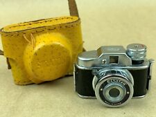 Siraton Camera with Case Japanese Hit Type Subminiature Camera Ca.1960 - Cute !