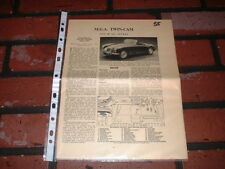 MGA TWIN CAM MOTOR TRADER SERVICE INFORMATION SHEETS. FREE U.K. POST