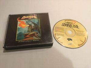 TSR D&D Game Aid DRAGON MAGAZINE ARCHIVE COMPLETE CD-ROM + Character Generator